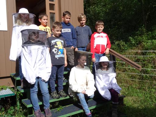 Besuch im Lernbienenstand 2020